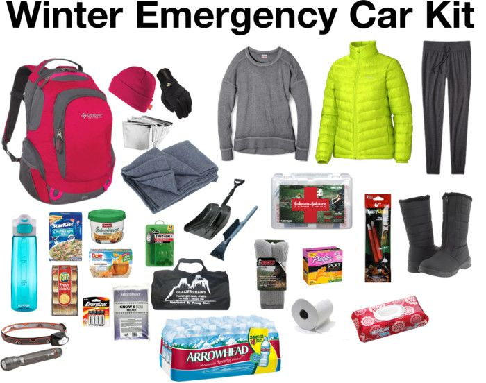 Emergency winter car survival kit