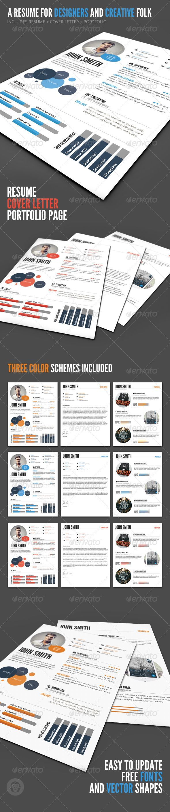 InfoGraphic Style Resume Template 237 best CV