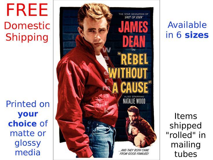 James Dean - Rebel without A Cause - affiche du film numériquement restauré & retouchées (505456393) par Postershop sur Etsy https://www.etsy.com/fr/listing/505456393/james-dean-rebel-without-a-cause-affiche