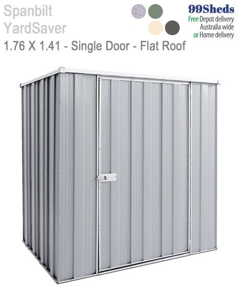 Yard Saver Spacemaker F54 1.76m x 1.41m Single Door