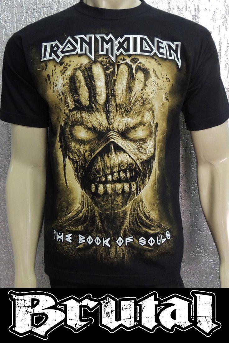 9e7fedb202 Camiseta Iron Maiden - 100% algodão e estampa em Silk Screen de alta  qualidade.