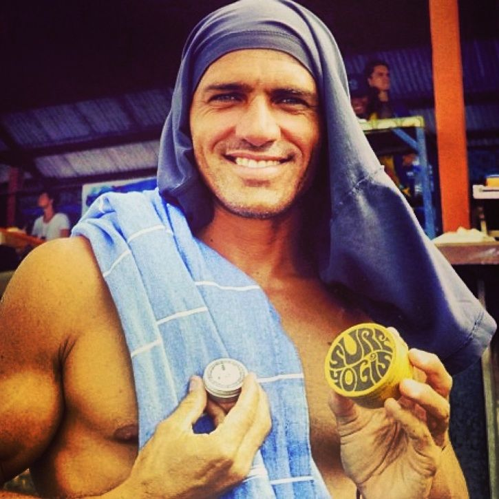 This total spunk (Kelly Slater) loves our all natural Surf Yogi's Surfscreen! Made from chocolate, coconut oil and beeswax it's mega protection in and out of the water (and it smells incredible!) http://www.peachyclean.com.au/collections/surf-yogis/products/surf-yogis-surf-sunscreen