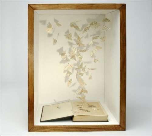 butterfly book artBook Art, Book Sculpture, Bookart, Su Blackwell, Book Cut, Paper Sculpture, Paper Projects, Cut Out, Crafts