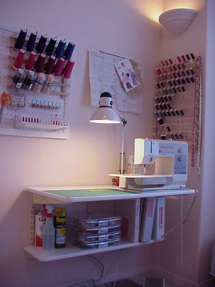 organize the sewing room...has some good tips for how to organize your craft space