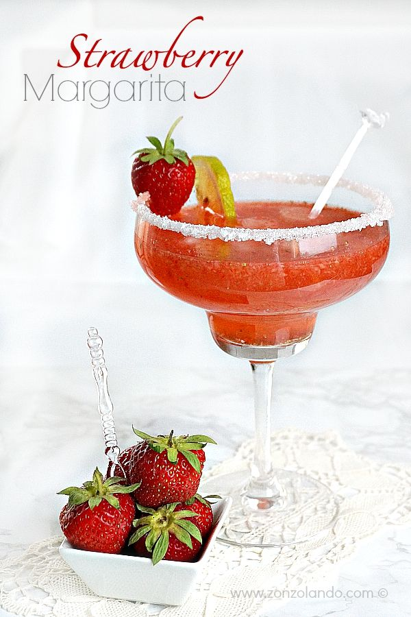 Strawberry margarita - Margarita alla fragola | From Zonzolando.com
