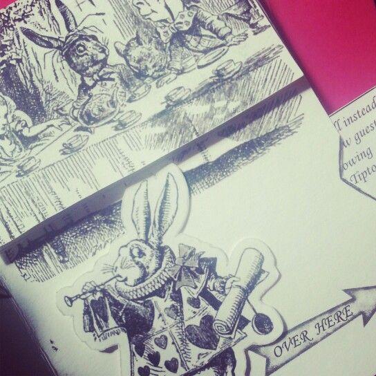 Our Alice In Wonderland Wedding Invitations