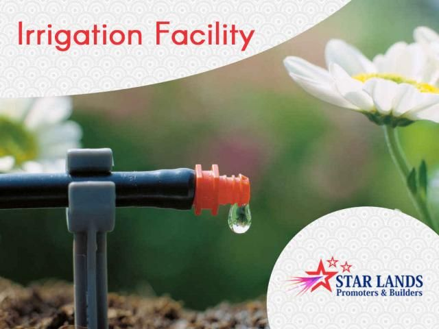 Irrigation Facility Keep your plants and lawns always fresh. Build your home with #Irrigation facility just call : Star Lands Promoters & Builders – 95006 45566