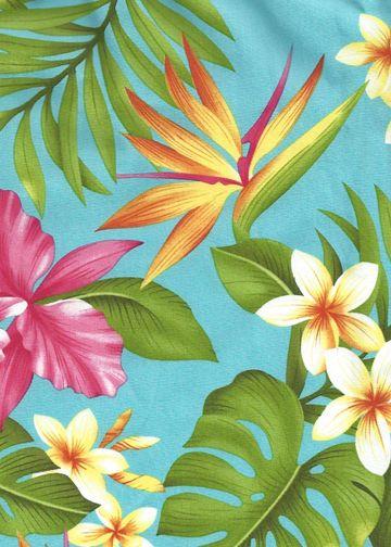60manoa - Vintage Style Hawaiian fabric print with ...