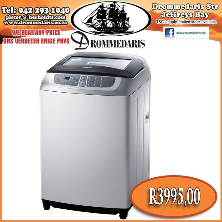 The Samsung 13kg Diamond Drum Top Loader has wobble technology, ensuring less tangling and care for your laundry. We have great deals on our Drommedaris online store! Click on the link to view the items you can cash in on, http://apost.link/ti. #appliances #homeimprovement #technology