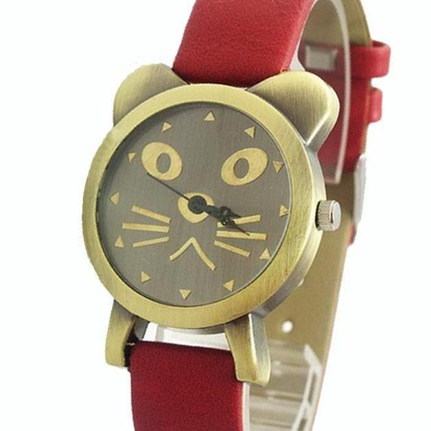 via en.dawanda.com Wrist Watches – Watch :: cat :: – a unique product by nosgustanlosretros on DaWanda
