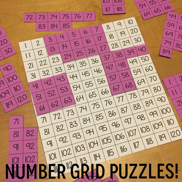 Cut apart this FREE template to make number grid puzzles!