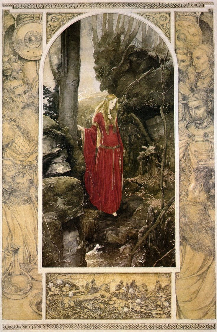 Alan Lee - I have never heard of this man, but what a magnificent painting. These are the sorts of things I try to sketch, and they always turn out like crap. ;)