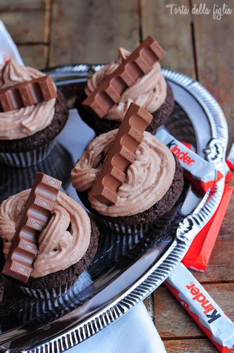 Torta Della Figlia | Kinder Chocolate muffins with a surprise