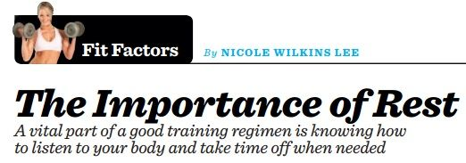 """The importance of rest"" - by Nicole Wilkins Lee"
