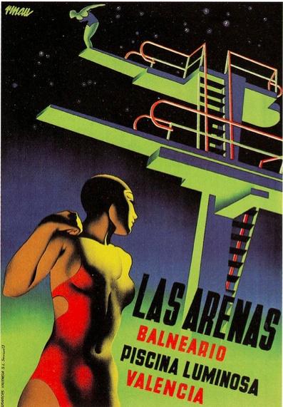 1930s poster  Source: Paul Malon: The Sand, Picture-Black Posters, Piscina Luminosa, Graphics Design, Josep Renau, Posters Art, Renau Montoro, Artdeco, Art Deco Posters