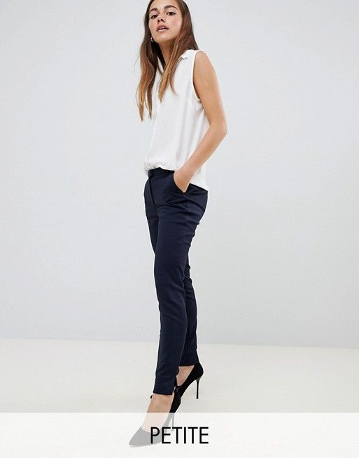 f7a87ca9632 Y.A.S Petite ecco tailored ankle length cigarette pants in navy