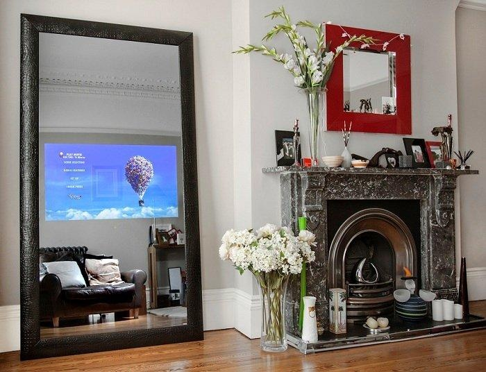 a great vanishing tv built right into this beautiful mirror learn more at www