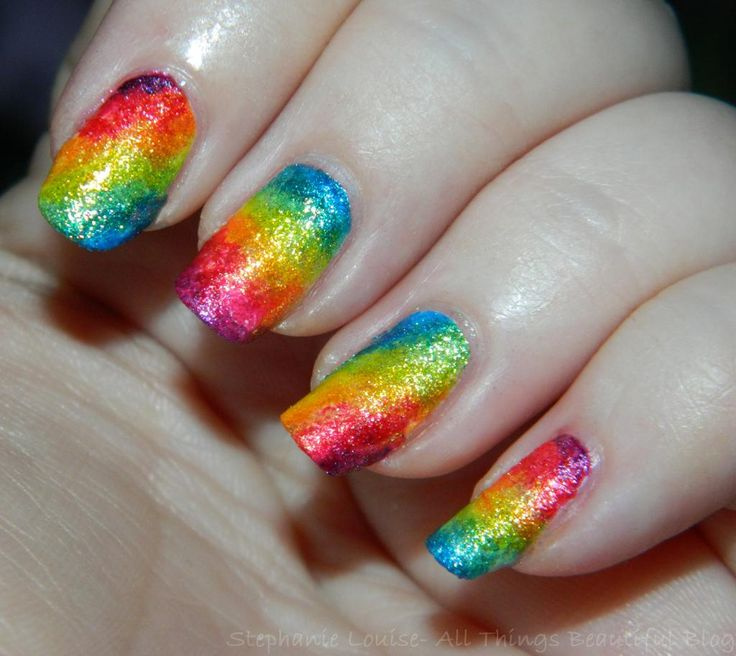 178 best Rainbawesome Nail Art Designs images on Pinterest | Belle ...