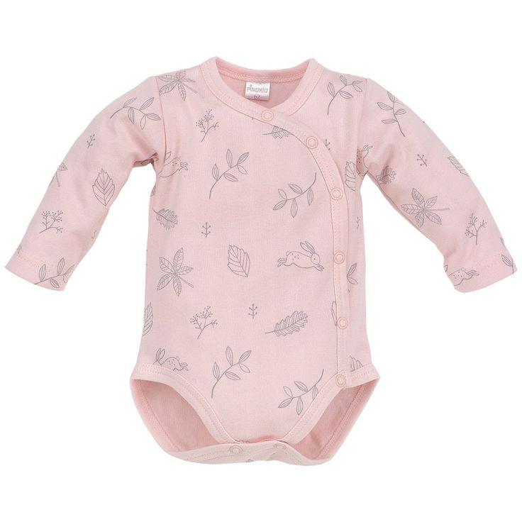 • Body rozpinane dla dziewczynki z Kolekcji Colette różowe - Ubranka dla niemowląt - Sklep Polskie Dzieci