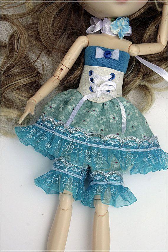 Pullip   Blythe   dress    1/6 BJD by DollyCreation on Etsy