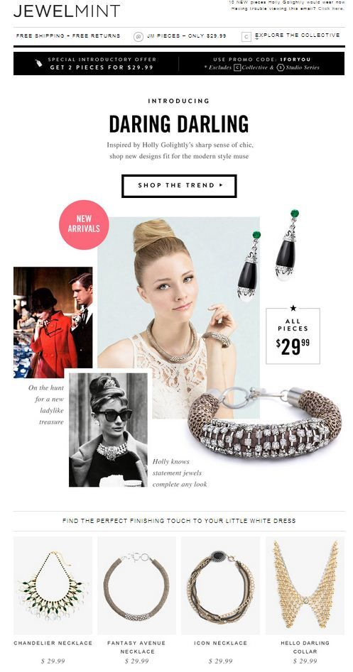 email design inspiration - jewellery mailer design