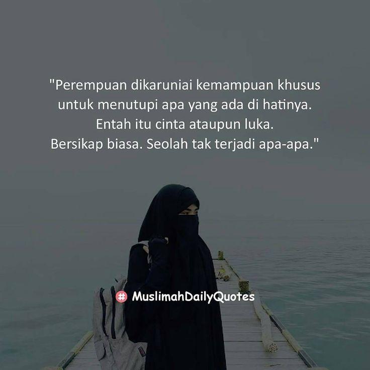 "163 Likes, 1 Comments - Aina Syauqina (@aina_syauqina) on Instagram: ""@Regrann from @muslimahdailyquotes - ... Saat jatuh cinta jantungnya berdegup kencang, wajahnya…"""
