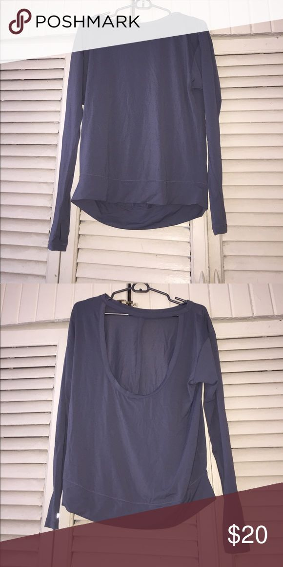VS Sport pullover/ long sleeve shirt. Not thick enough to be a pullover but thicker than a long sleeve shirt. Vented and super cute for workout gear or everyday use! Victoria's Secret Sport Tops Sweatshirts & Hoodies