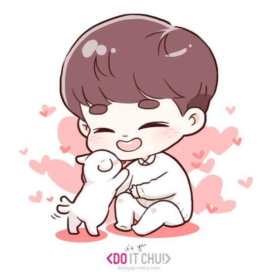 Cute Bts Drawings Wallpaper D O And Tao S Puppy Candy Exo Chibi Pinterest Exo