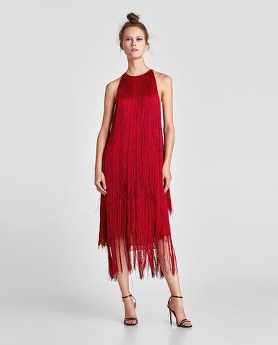 c0e28e0ce3 Image 1 of MAXI FRINGE DRESS from Zara