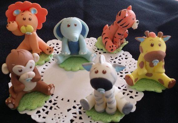 CakeToppers jungle Jungle Shower de bébé par CakeToppersBoutique