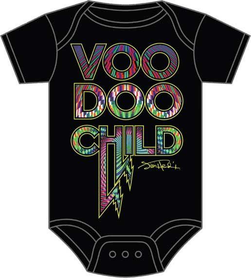 Jimi Hendrix Voodoo Child Baby Onesie