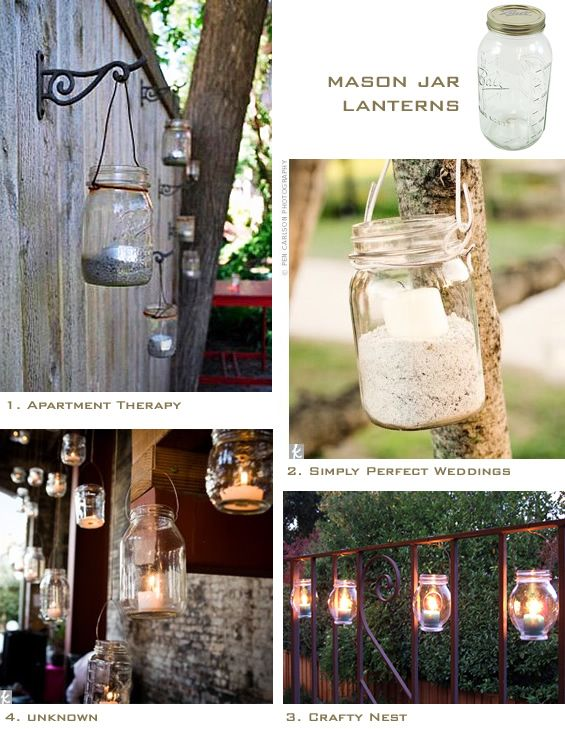 Glass Jar Lanterns