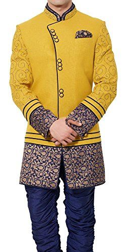 INMONARCH Mens Angrakha Pattern Yellow Linen Indo Western IN471  http://www.allmenstyle.com/inmonarch-mens-angrakha-pattern-yellow-linen-indo-western-in471-2/