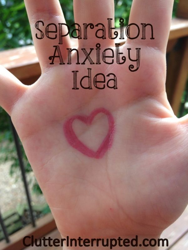 Separation Anxiety Idea for your child | Back to School Ideas | Clutter Interrupted