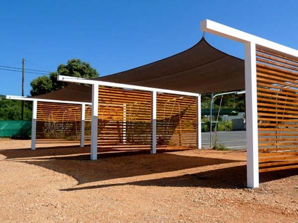 Benson pires lda woodliving services carports for Carport gate ideas