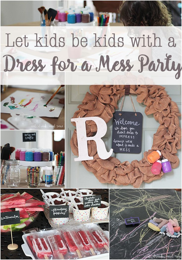 Let kids be kids with a dress for a mess party! It's so much fun and the kids have a blast. Make play dough, let the kids paint, and do lots of other fun messy activities. http://eatdrinkandsavemoney.com/2016/08/23/let-kids-be-kids-with-a-dress-for-a-mess-party/  #FreeToBe #CollectiveBias #ad
