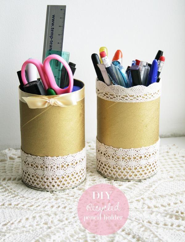 DIY Back To School DIY Recycled Pencil Holder DIY Back To School | DIY Back  To School | Pinterest | Diy Recycle, Pencil Holder And Diy Stuff