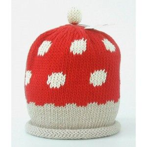 Toadstool Knitted Hat