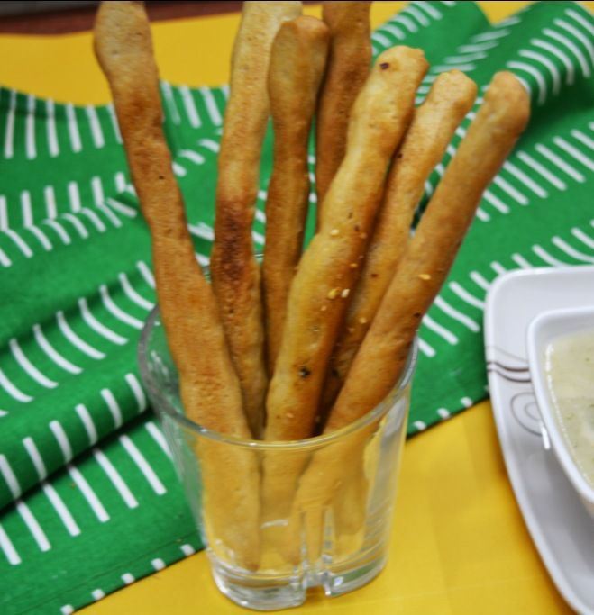 Pizza Dough Bread Stick Recipe Lets enjoy soup with this #homemade #breadsticks  #leftover #pizzadough  Recipe at: annapurnaz.in