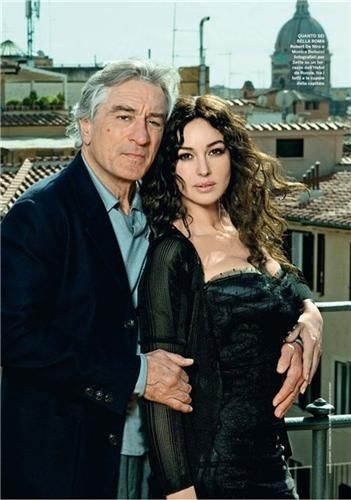 Robert Deniro and Monica Bellucci