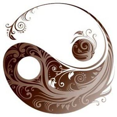 Decorated yin yang tattoo