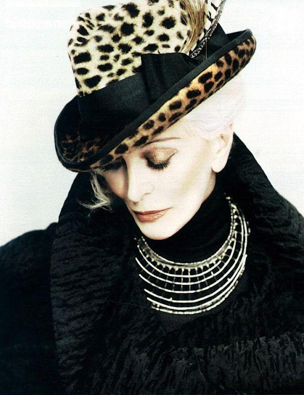 Carmen Dell'Orefice ...............AGELESS beauty , ageless style., and Fashion İcon...