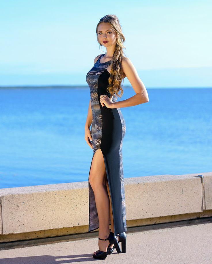 Long Illusion Dress in Taronga