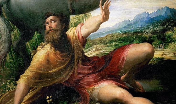 Parmigianino - conversione di San Paolo - particolare