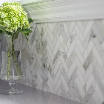 Herringbone Backsplash, Transitional, laundry room, Well Nested Interiors