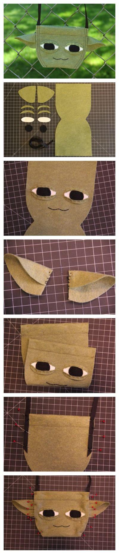 Disney Craft: A Star Wars Weekends-Inspired Yoda Bag #DIY #Disney http://blog.undercovertourist.com/2013/05/disney-craft-star-wars-weekends-yoda-bag/