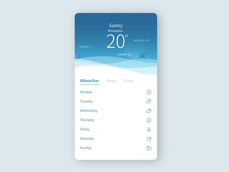 Weather app by Leo Chen