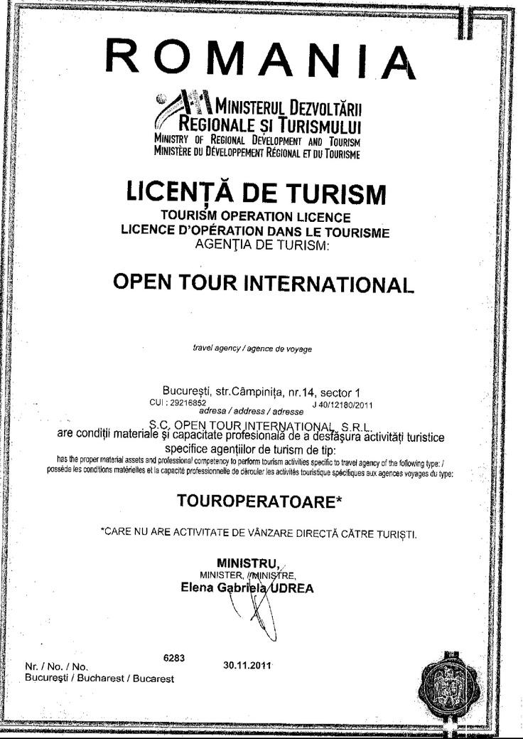 Licenta Open Tour