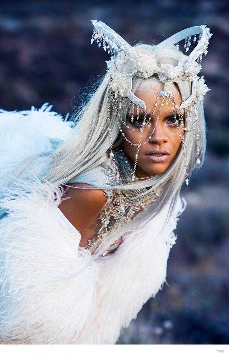 Rihanna Goes Futuristic, Rocks Grey Hair in Tush Fashion Shoothttp://www.fashiongonerogue.com/rihanna-goes-futuristic-rocks-grey-hair-tush-fashion-shoot/
