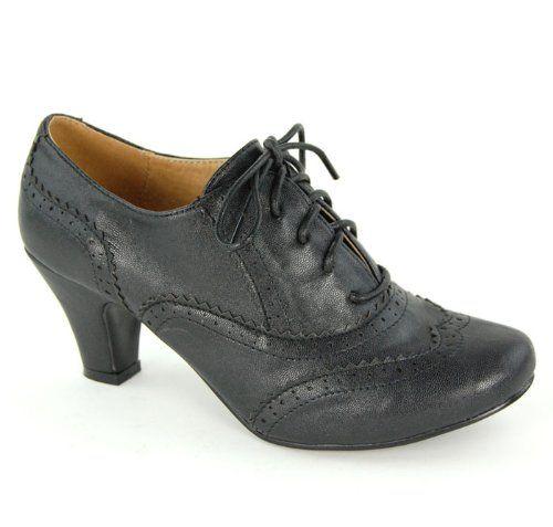 Womens Round Toe Lace Up Brogue Work Office Shoe Ladies Low to Medium Heel Court Black Size 4 UK Garage Shoes http://www.amazon.co.uk/dp/B008AOGXKY/ref=cm_sw_r_pi_dp_4AkZtb1E4GM6JGZJ